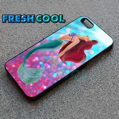 AJ 1904 Pink Sparkle Little Mermaid - iPhone 4/4s/5 Case - Samsung Galaxy S2/S3/S4 Case - Black or White by FreshCool on Etsy