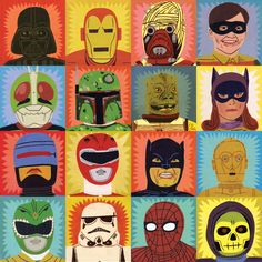 Jack Teagle managed to get into my 6yr olds mind for his set of heroes/villains