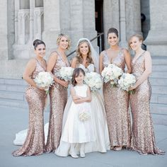 Gold sequin bridesmaid dresses, Long Mermaid bridesmaid dress, Sequin bridesmaid from romanticdress - Wedding Dresses Fashion Mermaid Bridesmaid Dresses, Blue Bridesmaids, Wedding Dresses, Lace Wedding, Bridesmaid Color, Dream Wedding, Bridesmaid Boxes, Gown Wedding, Wedding Vows