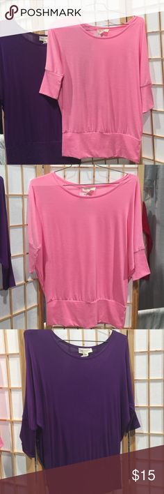 Rt-8216 Rayon Scoop Nk Dolman Sleeve Available in bright pink and purple. Me & My T's Tops Tunics