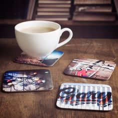 Rest your beer on your matersquos face or show off your latest sepiatinted cameraphone masterpiece over drinks with these excellent new Instagram Coasters.