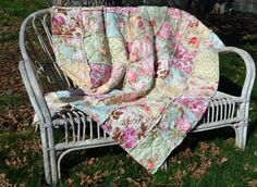 Shabby Chic French Country Rag Quilt by SeasonOfTheStitch on Etsy