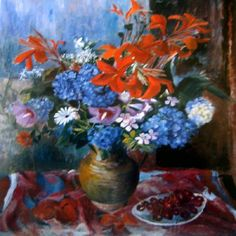 Paintings - Margaret Hannah Olley - Page 3 - Australian Art Auction Records Fruit Painting, Garden Painting, Australian Painters, Australian Artists, Margaret Preston, Australian Flowers, Visual And Performing Arts, Still Life Flowers, National Art