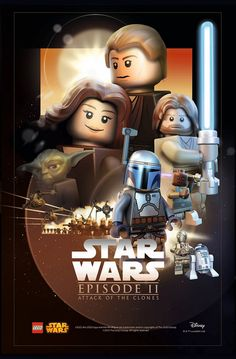 Lego Poster Star Wars Episode II: The Attack of the Clones