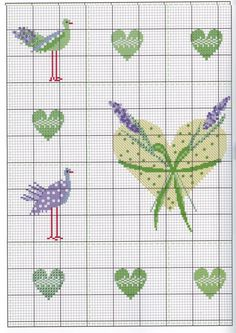 Cross Stitch Heart, Cross Stitch Flowers, Cross Stitch Designs, Cross Stitch Patterns, Cross Stitching, Cross Stitch Embroidery, Japanese Embroidery, Needle And Thread, Fabric Flowers