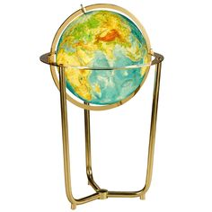 Illuminated Brass Globe | From a unique collection of antique and modern globes at https://www.1stdibs.com/furniture/more-furniture-collectibles/globes/