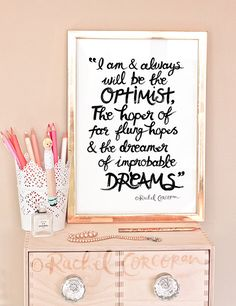 DOCTOR WHO I Am and Always Will be the Optimist - Typographic Print - Hand Lettering - Inspirational Art - Office Decor - Dreamer by Rachillustrates on Etsy https://www.etsy.com/listing/172949287/doctor-who-i-am-and-always-will-be-the
