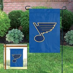 St Louis Blues Applique Embroidered Mini-Window Or Yard/Garden Flag
