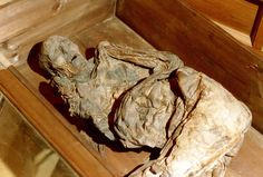 Mujer de Huldremose,  data aproximadamente del siglo I a. C., se cree que pertenecía a alguno de los pueblos escandinavos, en plena Edad de Hierro. El cuerpo fue descubierto en 1879 por un trabajador de la pequeña localidad de Huldremose, que se encontró con el cuerpo en una turbera pantanosa cuando se disponía a extraer carbón de la misma, en la pequeña península de Djursland perteneciente a la gran península de Jutland, Dinamarca. Momia natural