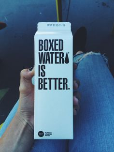 Boxed Water- perfect for the beach because it doesn't get that melted plastic taste from the sun!