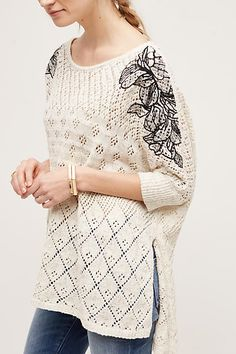 Embroidered Launa Poncho - anthropologie.com