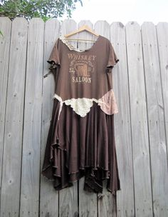 The Whiskey Saloon Slouchy Oversized Tshirt Dress/ by 75Rabbit, $78.99