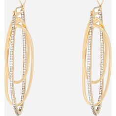 Henri Bendel Luxe Pave Orbital Large Hoop ($128) ❤ liked on Polyvore featuring jewelry, earrings, henri bendel, hoop earrings, pave hoop earrings, henri bendel jewelry and pave jewelry