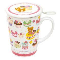 Cute Japanese Mug Cup And Tea Strainer Rilakkuma Sweets By San-X