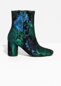 & Other Stories image 1 of Jacquard Boots  in Green