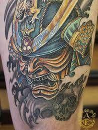 Oni Mask Tattoo 9 Samurai Mask Tattoo Mask Tattoo Samurai Tattoo