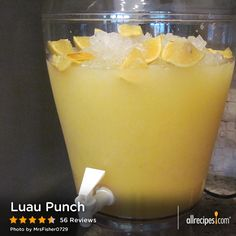 Luau Punch | This 5-star recipe for Luau Punch has been pinned more than 150,000 times and calls for just three ingredients. Can you guess? luau recipe, pineappl juic, orange juice, parti, luau drink