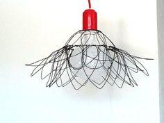 ceiling Lamp Shade Wire Sunrose lighting by SatarasWireCrafts, kr500.00