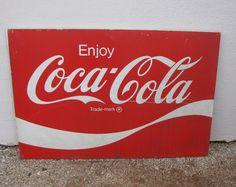 "Huge 66""x 44"" Rare Size Enjoy Coca Cola Metal Advertising Rustic Decor Sign!  #CocaCola"