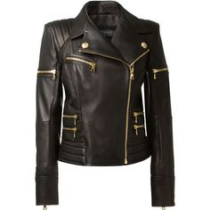 Shop women's leather jackets online now at Farfetch. Find women's designer leather jackets from luxury brands at top boutiques. Leather Jackets Online, Designer Leather Jackets, Balmain Jacket, Black Biker Jacket, Jackets For Women, Clothes For Women, Quilted Jacket, Quilted Leather, Coat