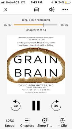 Grain Brain, Brain Book, Book Recommendations, Grains, Books, Life, Livros, Libros, Book