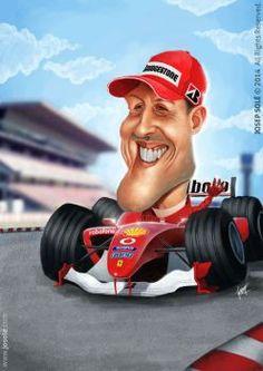 Michael Schumacher caricature by jsoleb