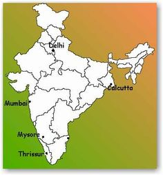 One Grain of Rice activity - India Map