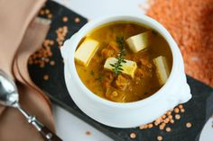 Red Lentil Stew with Tofu