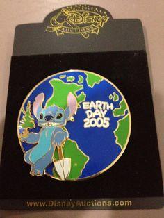 Disney Auctions Stitch Earth Day Jumbo LE 100 Pin   eBay