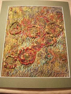 Hand stitched, inspired by Jean Littlejohn Textile Fiber Art, Textile Artists, Diy Embroidery, Embroidery Stitches, Machine Embroidery, Creative Textiles, Textiles Techniques, Contemporary Embroidery, Thread Painting