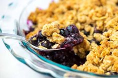 Easy Baked Cinnamon Apples Crumble Pie, Crumble Recipe, Blueberry Topping, Blueberry Crisp, Cupcakes, The Fresh, A Food, Food Processor Recipes, Pumpkin