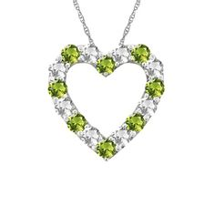 BRILLIANT HEART BIRTHSTONE NECKLACE - In beautiful peridot and sterling silver