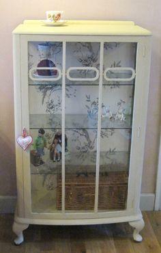 1940s China Display Cabinet Annie Sloane Ochre by VerasTreasures, £165.00