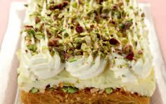 Ekmek with kataifi pastry (Ekmek kataifi) - iCookGreek Greek Sweets, Greek Desserts, Party Desserts, Greek Recipes, Dessert Recipes, Ekmek Kataifi Recipe, Kataifi Pastry, Filo Pastry, Greek Cooking