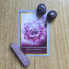 Card of the Day - 7 August: Empowered Service | Crystal Oracle Mandala by @alanafairchild #rhodonite. Read more on the blog!