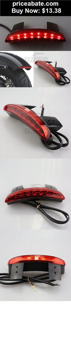 Motors-Parts-And-Accessories: Red Chopped Fender Edge LED Tail Light For Harley Davidson XL Sportster 883 1200 - BUY IT NOW ONLY $13.38