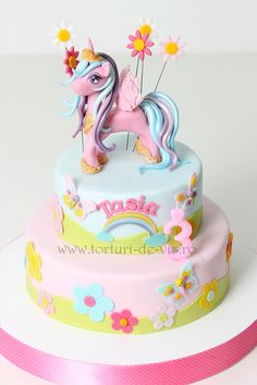Birthday Kids Cake Girls My Little Pony 55 Ideas Girly Cakes, Cute Cakes, Baby Cakes, Kid Cakes, Yummy Cakes, My Little Pony Cake, My Little Pony Birthday Party, Birthday Kids, Cake Birthday