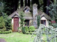 English Cottage Playhouse - from Robert Mahrer of RMGC in Santa Cruz, CA Cottage In The Woods, Cozy Cottage, Cottage Homes, Cottage Style, Cottage Gardens, Storybook Homes, Storybook Cottage, Fairytale Cottage, Fantasy House