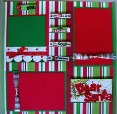 DEAR SANTA CHRISTMAS TWO 12X12 Premade Scrapbook Pages