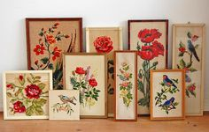 Wonderful collection of flower and bird embroideries