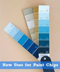 idea, paintchip, diy crafts, color, art, gift tags, coffee filters, thing, paint chip