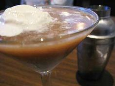 Rootbeer float martinis- best alcoholic beverages EVER