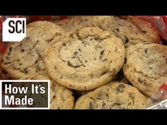 How It's Made: Chocolate Chip Cookies - YouTube Foods To Avoid, Chocolate Chip Cookies, Chips, Food And Drink, Eat, Cooking, Youtube, Desserts, Science