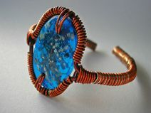 Orgon Blue Oval - Handgemachte Orgonit-Armband