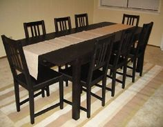 I like the IKEA Bjursta Dining Room Table - Kaustby Stefan Chairs Cushions Set - 21 Pieces