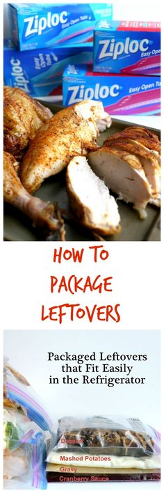 How to Package Leftovers so they fit in your refrigerator. #InspiredGatherings