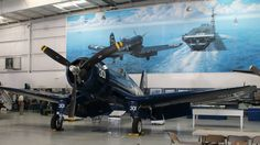 FG1D Corsair, US Navy, WW2. Palm Springs Air Museum. Photo by Patrick Mack.