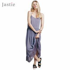 Moda estilo boho summer beach encaje asimetría maxi dress plus size women summer vestidos 2015 brisa fácil de ganchillo slip