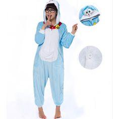 Jingle Cat Doraemon Onesies Pajamas Cartoon Animal Costume Pyjamas Unisex Pijamas Sleepwear Party Outfit