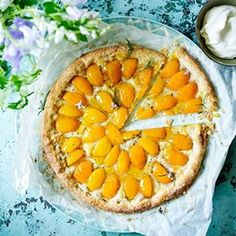 Apricot and rosemary galette